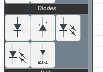 Ideal diode model in CircuitLab toolbox