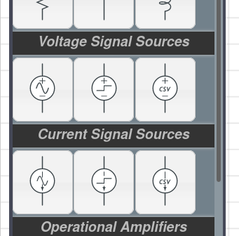 Voltage Step Source and Current Step Source in CircuitLab toolbox